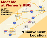 BBQ Restaurant Locations Between Columbus & Cincinnati